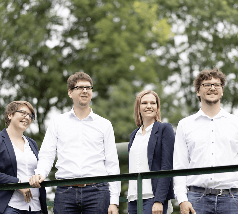 Am Bild ist das Logsol -Team zu sehen. Von links nach rechts: Karin Annerl, Mathias Past, Bettina Eder und Andreas Stefl