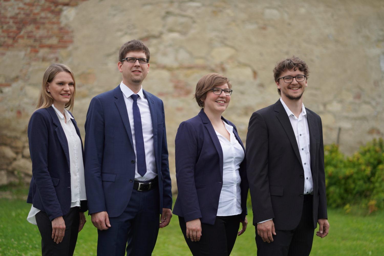 Die Unternehmensberater hinter Logsol. Von links nach rechts: Bettina Eder, Mathias Past, Karin Annerl und Andreas Stefl